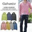 Galvanize(ガルバナイズ) 長袖 ダブルジップ 杢パーカー 363-137