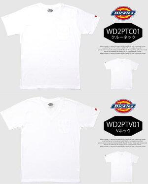 Dickies(ディッキーズ)2枚組パックTシャツ半袖無地クルーネックVネック半袖Tシャツ肌着メンズ半Tインナー2枚セット丸首カットソー白黒ホワイトブラックブイネック2P下着WD2PTC01WD2PTV01【楽ギフ_包装】