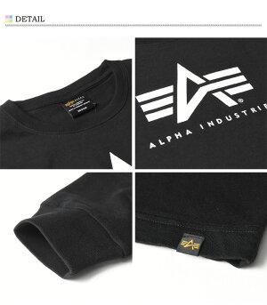 ALPHAINDUSTRIESアルファインダストリーズロゴプリント長袖TシャツA-MARKプリントTシャツメンズロンT長袖TシャツTC1340