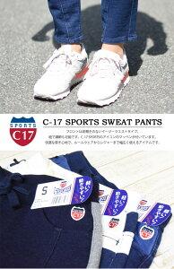 C-17SPORTSレディースパネルスウェットパンツテーパードC-SEVENTEENC17シーセブンティーンCSP217【楽ギフ_包装】