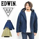 30%OFF セール SALE EDWIN エドウィン F.L.E エアーサックジャケット アウター 二層防風 アウトドア キャンプ 中綿ジャケット 防寒 メンズ 送料無料 ET5799