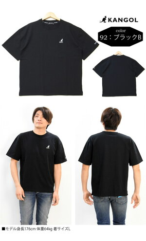 KANGOLカンゴールワンポイントロゴ刺繍半袖TシャツメンズレディースユニセックスビッグT半T半袖TシャツロゴTシャツ9273-0008