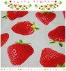 【オックス生地】●フレッシュストロベリー●【生地いちごイチゴカーテンプリント果物スイーツファブリック】