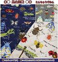 【キルティング生地】●昆虫図鑑●※メール便(ネコポス)数量6