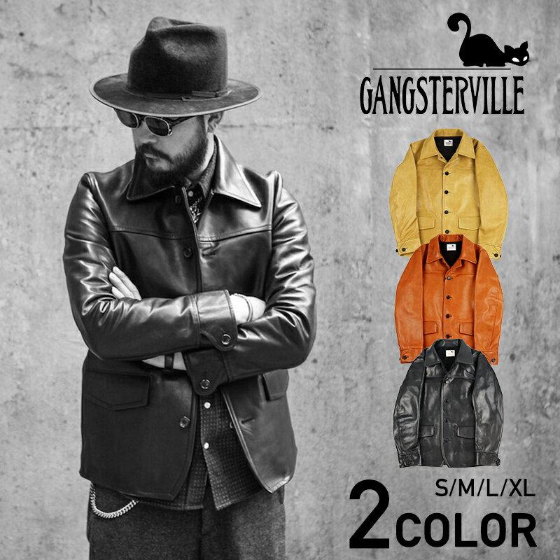 メンズファッション, コート・ジャケット  GANGSTERVILLE 30S CAR - COAT HORSE HIDE GLADHAND WEIRDO OLD CROW