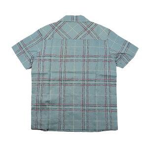 ウィアード半袖オープンカラーチェックシャツ開襟シャツメンズWEIRDOSILLYBEACH-S/SSHIRTSGLADHAND/グラッドハンド/GANGSTERVILLE/ギャングスタービル/OLDCROW/オールドクロウ