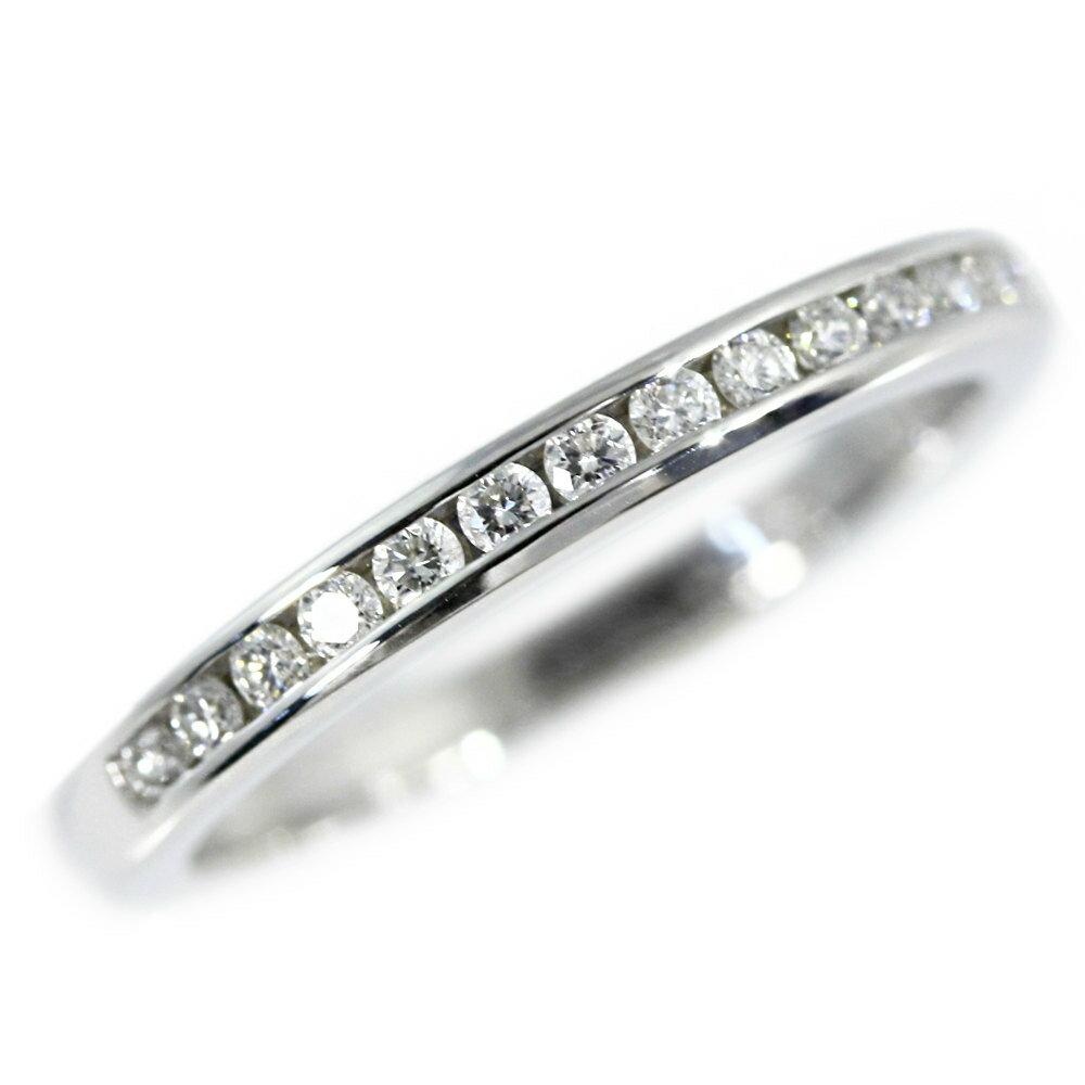 ティファニー/TIFFANY & Co. ハーフサークル チャネルセッティングウェディングバンドダイヤモンドリング