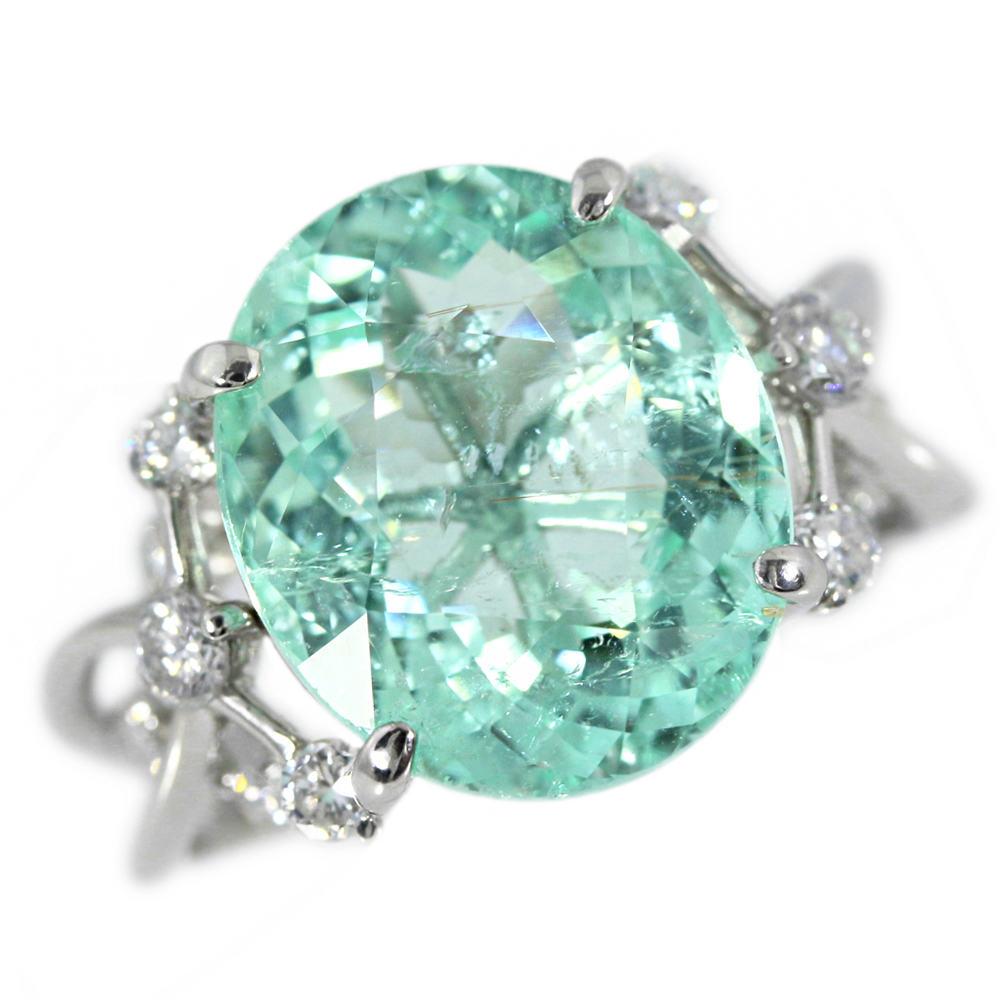パライバトルマリンダイヤモンドリング