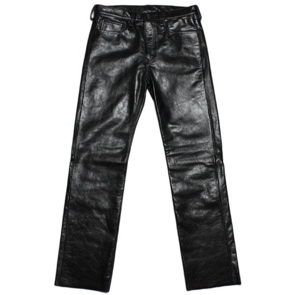 【ショット レザーパンツ ストレート 3151042 国内企画モデル】 Schott LEATHER PANTS Black(3151042):Rhino Store