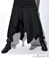 """【2017S/S新作】【送料無料】""""CIVARIZE【シヴァーライズ】Conjurer変形天竺ドレープスカート/Black-B""""【返品・交換対象商品】【あす楽対応】ヴィジュアル系ビジュアル系V系メンズファッション服スカートレディースモード系原宿系ロックパンツボトムス"""