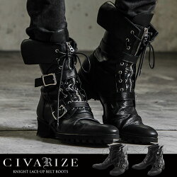 """【送料無料】【2017A/W新作】""""CIVARIZE【シヴァーライズ】Knight折り返しレースアップベルトブーツ/全2色""""【返品・交換対象商品】【あす楽対応】ブーツレースアップブーツ靴シューズヴィジュアル系ビジュアル系V系Visualメンズファッションモード系厚底"""