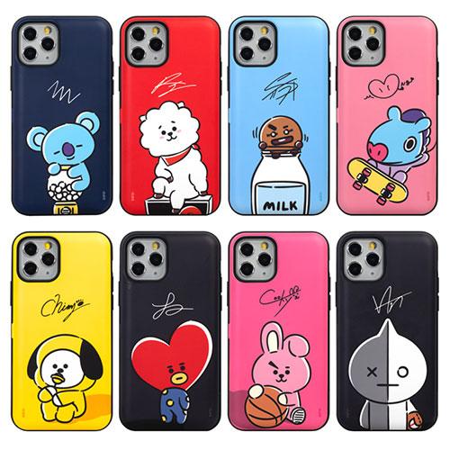 BT21 Hang Out Cutie Card Bumper/iPhone/Galaxy ケース/カバー/スマホケース