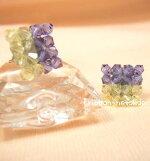 ◆ビーズピアス◆ビーズピアス(紫&黄色)BPI-03