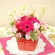 【母の日★送料無料】季節のお花のスタンディングブーケ(ピンク系)FL-HT-34
