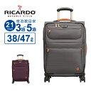 リカルド RICARDO スーツケース Sサイズ San Marcos サンマルコス 21インチ スピナー ソフト ビニールポーチ フロントポケット 拡張 防水裏地 ハンガー 158cm以内 軽量 大容量 Mサイズ TSAロック