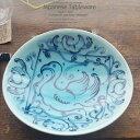 和食器 手づくり トルコブルーに吸い込まれそうな 青白 楕円鉢 サラダオーバル ボウル おうち ごはん 食器 うつわ 日本製 美濃焼 スクエアボウル