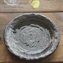 和食器 簡単アクアパッツァ白ワイン蒸し 銀彩黒石目22.8×3.2cm プレート 丸皿 おうち ごはん うつわ 食器 陶器 日本製 インスタ映え