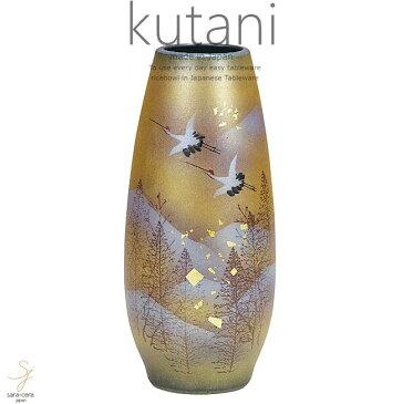 九谷焼 8.5号花瓶 木立鶴 和食器 日本製 ギフト おうち ごはん うつわ 陶器