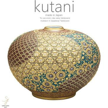 九谷焼 10号花瓶 本金盛割取小紋 和食器 日本製 ギフト おうち ごはん うつわ 陶器