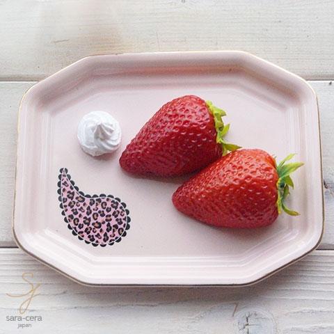 ピンク トリュフチョコチーズトレー フリートレー (Lサイズ) (ゴールドライン・ティアドロップ ピンク)レオパード柄
