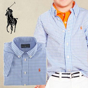 ◆【Ralph Lauren】★ラルフローレンBOYS・男の子★大人気!半袖シャツ/ギンガムブルーblue♪