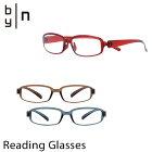 バイエヌbynリーディンググラススクエアシャイニーカラー【UV99%カットブルーライト48%カット眼鏡老眼鏡サングラス】