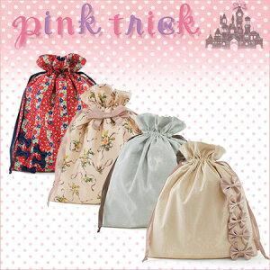 ピンクトリックpinktrickビッグ巾着【ポーチ巾着袋きんちゃく巾着袋バッグ】【PINKTRICK】【jelly_maga】