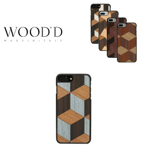 ウッド iPhone8Plus ケース Real wood Snap-on covers GEOMETRIC