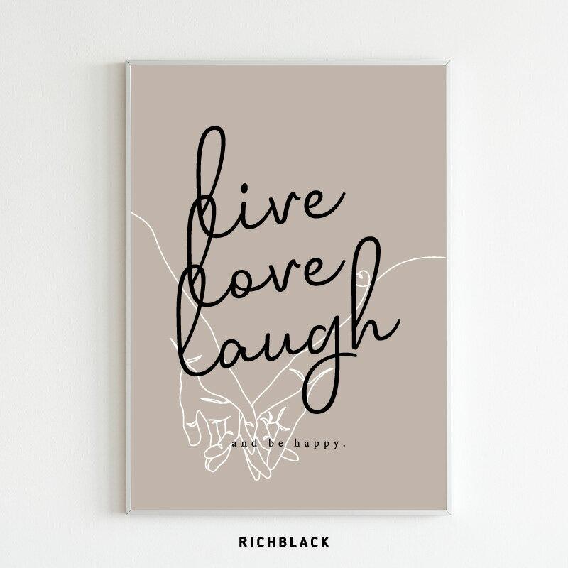 壁紙・装飾フィルム, アートパネル・アートボード  live love laugh A3