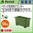 リッチェル/Richell コロ付きベランダ菜園プランター 50型 グリーン(GR)