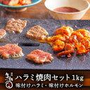 ハラミ ホルモン 1kg 焼肉セット ミールセット ミールキット 【李朝園】