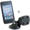 iPhone 4/4S シルク・ケース(ブラック)+ スイベルサクショ...