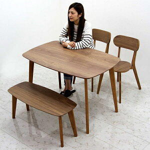 ダイニングテーブルセット ダイニングセット ダイニングテーブル ダイニングベンチ ベンチ 120 120×75 コンパクト 長方形 4点セット 4人掛け 北欧 カフェ風 カジュアル シンプル モダン 木製