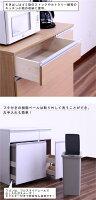 ダストボックス3分別45リットル45lキッチンカウンターキッチン収納大容量フタ付ペール付きワンタッチ開閉機能付きフルスライドオープンレール付きシンプル北欧モダンおしゃれ木製3色展開完成品日本製送料無料