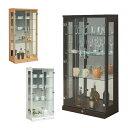 ガラス コレクションケース コレクションボード キュリオケース 棚 ラック 幅65cm 高さ130cm ロータイプ...