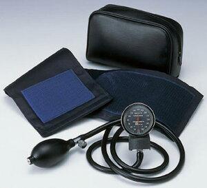 光目盛板採用により、暗所での使用も可能です。小型アネロイド血圧計 No.500 紺(本体セット)