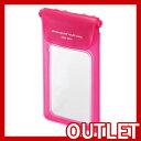 [在庫あり]【アウトレット特価!】 [サンワサプライ] スマートフォン防水ケース (ピンク) PDA-SPCWP1P 【1個までメール便配送OK!】