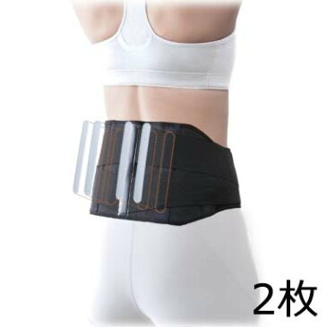 【竹虎】【特価!2枚セット】しっかり腰部支援帯 ブラック(※ネコポス不可)
