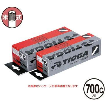 TIOGA(タイオガ) インナー チューブ 米式 700C/Inner Tube (American Valve) [TIT078]【700C/700C】【クロスバイク用】【米式バルブ口】【自転車用】【チューブ】
