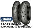 【ミタス】 スポーツフォース+ 120/70 ZR 17 & 190/55 ZR 17 MITAS SPORT FORCE+ バイクタイヤセンター