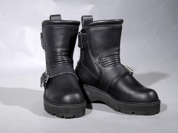 KADOYA#4316BLACKANKLE-Aブラックアンクルブーツ厚底タイプ
