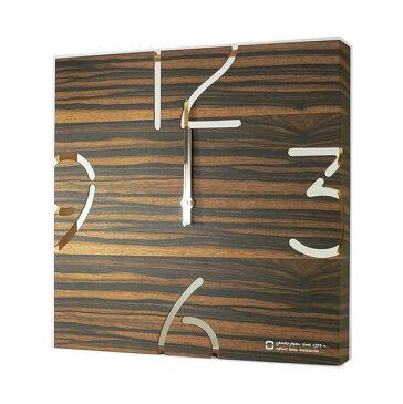 【送料無料】PUZZLE-電波時計-黒檀 木製 掛け時計 シンプル アナログ 北欧 yamatojapan ヤマト工芸 かわいい ブラウン プレゼント 内祝い 引越し祝い アンティーク デザイン おしゃれ リフル【代引き可】