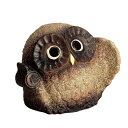 【送料無料】信楽焼きの置物「古信楽小づちふくろう(5号)」 伝統工芸品...