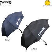 送料無料 スラッシャー THRASHER 傘 かさ アンブレラ ネイビー ブラック 黒 メンズ JACKSON MATISSE スラッシャー×ジャクソンマティス 60cm