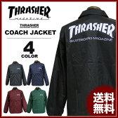 送料無料 スラッシャー THRASHER コーチジャケット ブラック 黒 バーグ アイボリーグリーン ネイビー メンズ MAG COACH JACKET