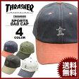 スラッシャー THRASHER GONZ ART PIGMENT 2TONE SPORTS CAP Dad HAT キャップ 帽子 ブラック 黒 グリーン 緑 ネイビー ホワイト 白 カーブキャップ ローキャップ メンズ レディース