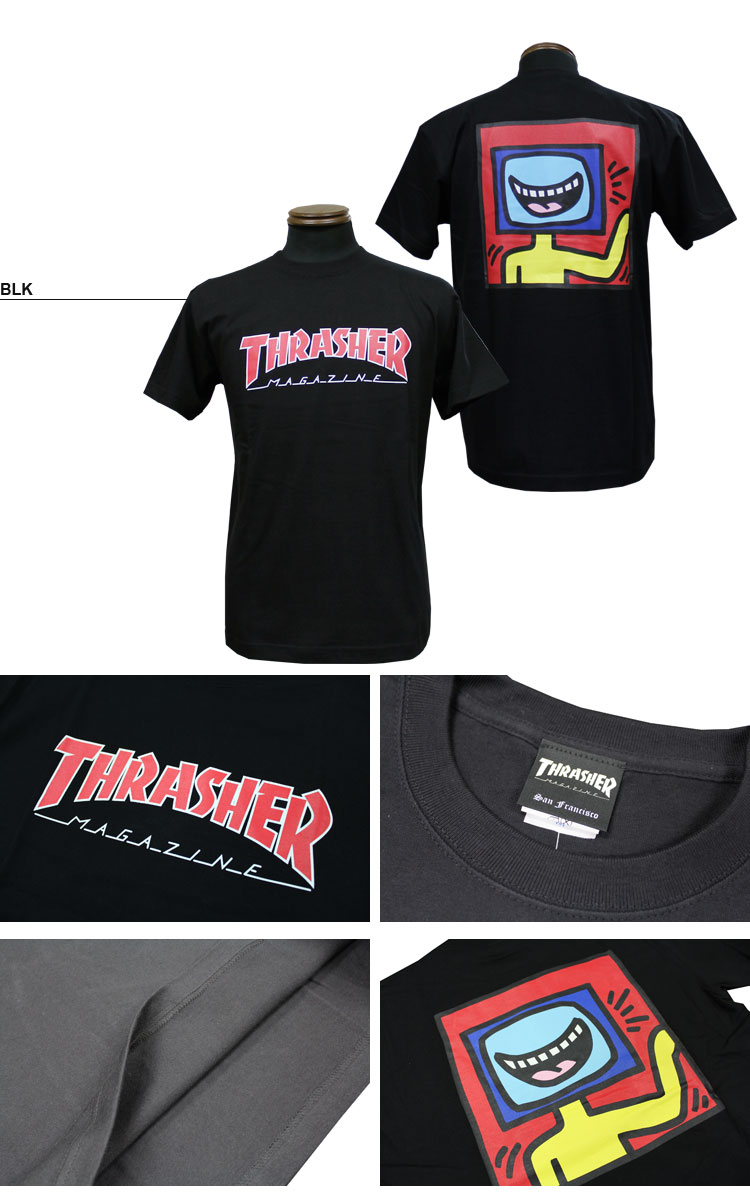 Thrasher t tv man t for Cross counter tv shirts