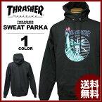 スラッシャー THRASHER トレーナー パーカー LIBERTY GOAT スウェットパーカ メンズ レディース コラボ ブラック S-XL