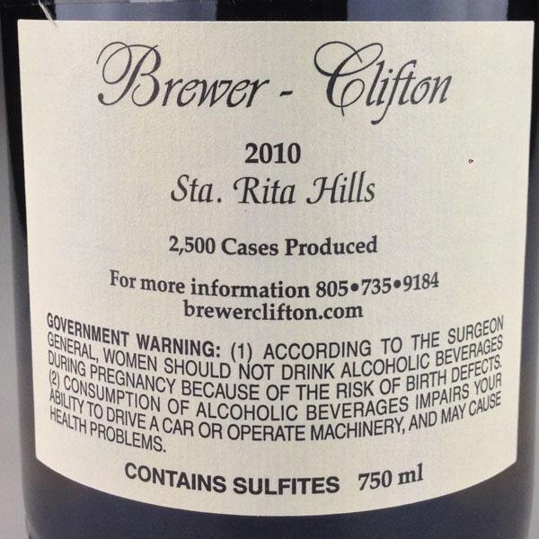 [US] [2010] / [WA91] [白] サンタ・リタ・ヒルズ シャルドネ Brewer Clifton Chardonnay Santa Rita Hills ブリュワー・クリフトン