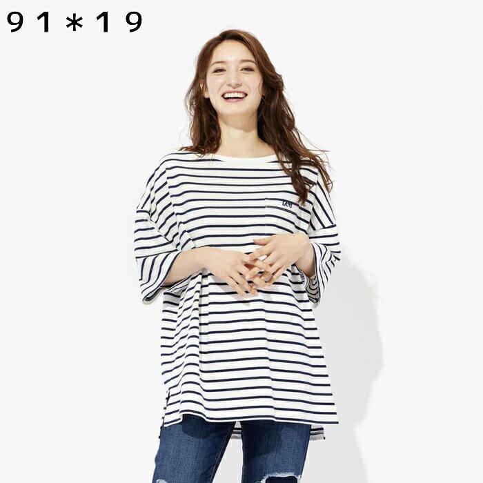 Lee ポケット付きビッグTシャツ ウィメンズRight-on,ライトオン,LT2630,Lee,リー
